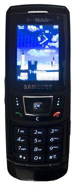 Samsung D900 - Front Open Lights and LCD on