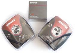 Shure SE Range - SE210, SE310, SE530