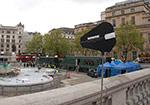 Antenna overlooking Trafalgar Square