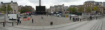 Trafalgar Square on event day