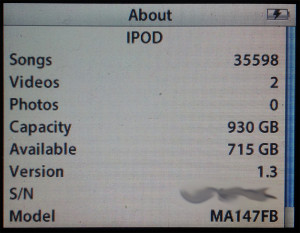 1TB iPod Screen